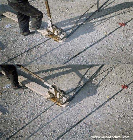 Kol makası ile demirin kesilmesi resim