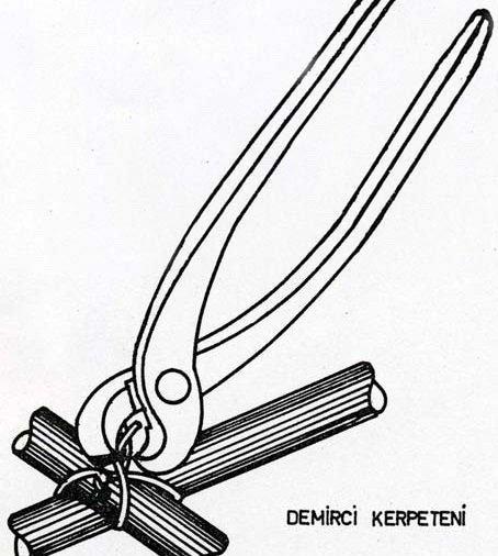 Kerpeten ile telin bükülmesi resim