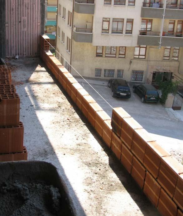 Duvar örme harç tuğla yerleşimi resim